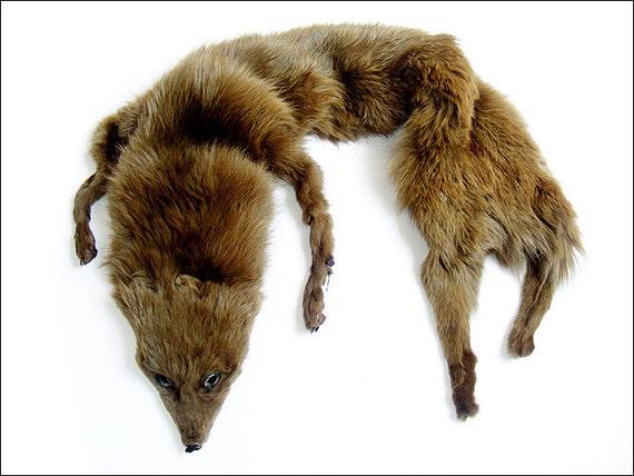 Vintage Real Fox Fur Stole