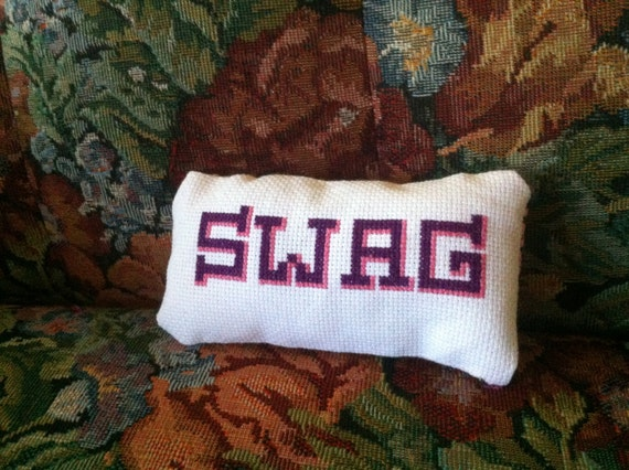 Swag decorative pillow
