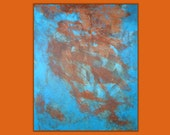 "Abstract Painting ""Fireprints"" - Original Art from Ease the Soul Artworks by Jackson P"