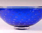 Crescent Bubble Bowl Cobalt