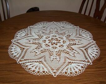 "21)  ""ORION""  handmade crochet doilies"