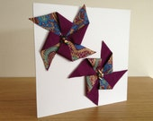 Double Dalston Fabric Windmill Greeting Card