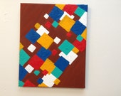 8x10 Abstract Squares--Free Shipping