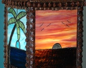 Sunsetting Tiki chain Lamp