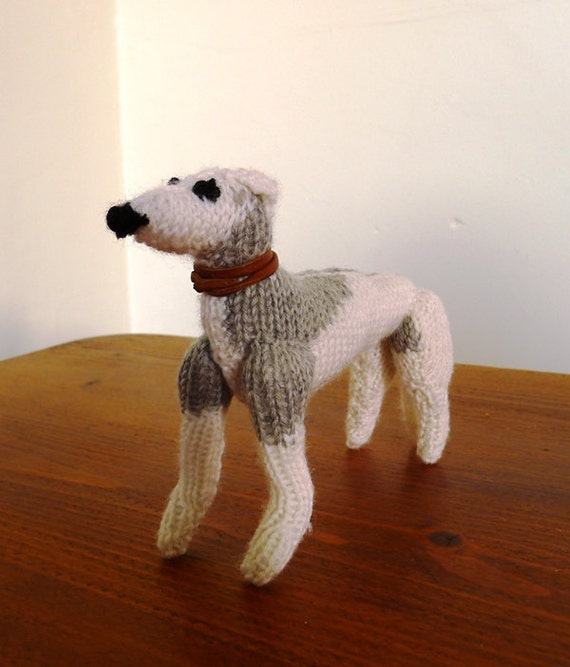 Hand knitted minature Whippet dog