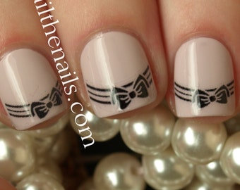 Bow Tip Nail Art Water Transfer Nails Decal Y980