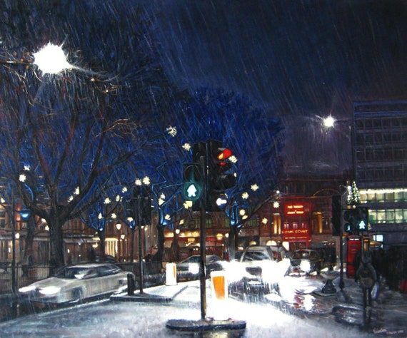 London- original oil painting