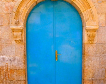 Blue Door. Old City, Jerusalem. 8x10