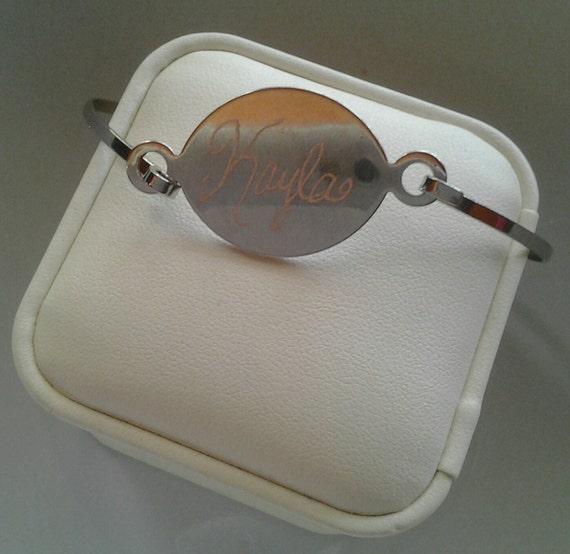 vintage engraved bracelet