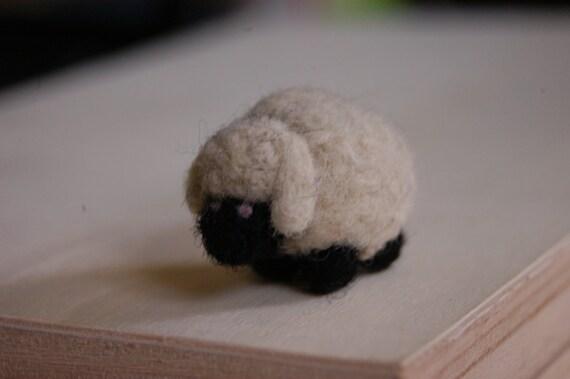 Black and White Lamb- Miniature