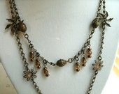 """Natural brass necklace, """"Victoria."""""""
