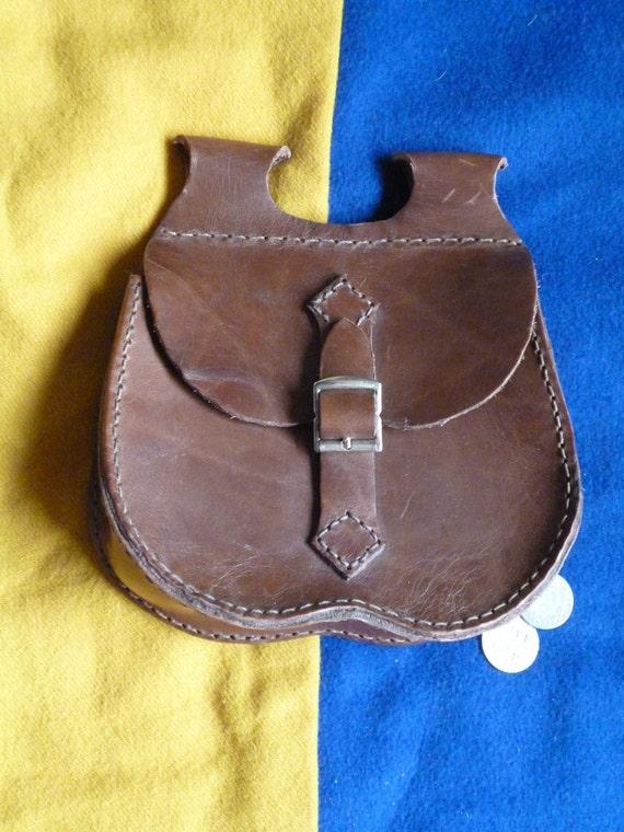Medieval Reenactment/ Renaissance Fair Basic Leather Pouch