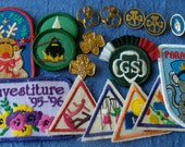 Vintage Girl Scout Pins, Badges and Patches