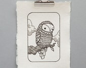Bird on a Branch Illustration