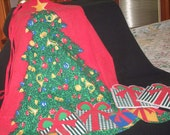 Christmas apron and potholders