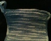 Blue and White Hand-made Crocheted Potholder