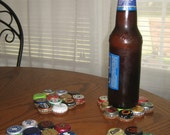 Recycled Bottle Cap Coasters--set of 4