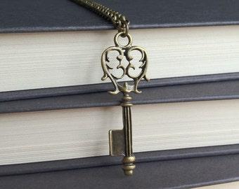 Vintage Style Key on Chain