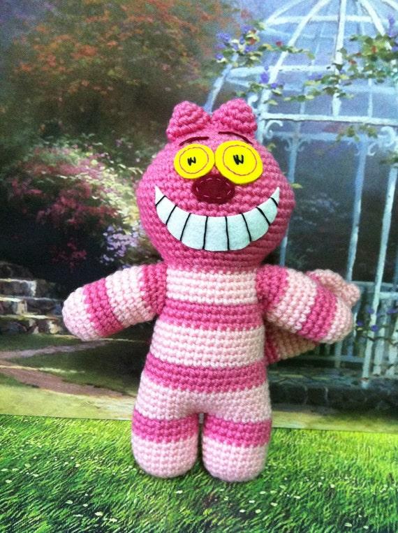 Cheshire Cat Amigurumi Crochet Pattern : Items similar to Finished Amigurumi crochet CHESHIRE CAT ...