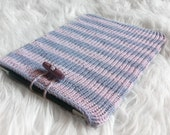 iPad Sleeve / Organic Cotton / pink and lilac stripes