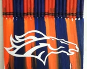 Melted Crayon Art - Broncos