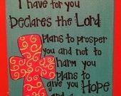 Jeremiah 29:11 Bible Verse Canvas