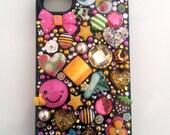 Super Cute Pink & Green custom deco case for iPhone4/4s/5