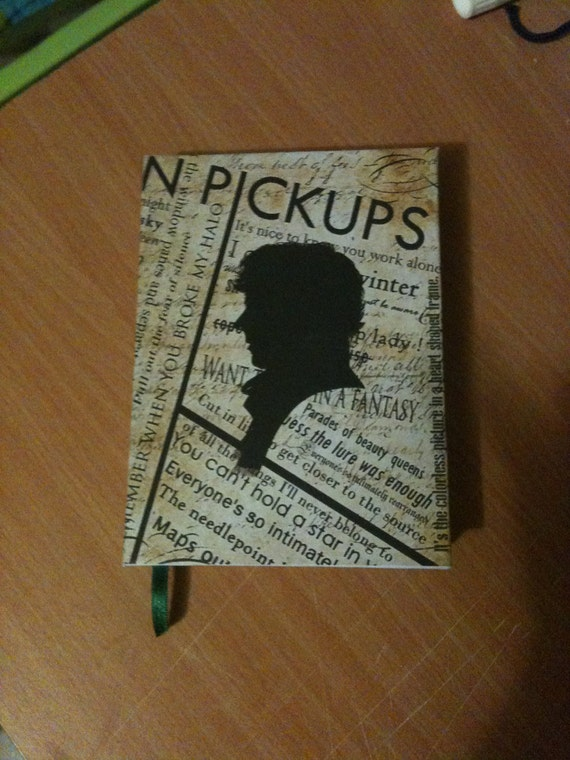 Sherlock hand-made hardcover Notebook with cloth bookmark