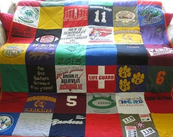 Custom T-shirt Quilt (deposit only) 6-8 week lead times
