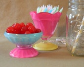 "Ice Cream Sundae Cups ""Shorties"", Color-Block, Set of 2"