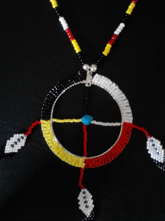 Items Similar To Handcrafted Beaded Medicine Wheel