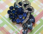 Beautiful Unsigned Eisenberg Stacked Bermuda Blue Brooch With Icing...