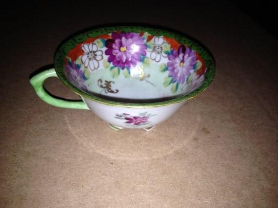 Hand Painted Vintage Porcelain Tea Cup 2