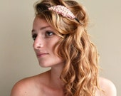Beautiful Sunrise Inspired Headband - Hand Embroidered and Pearl Encrusted - Aurora
