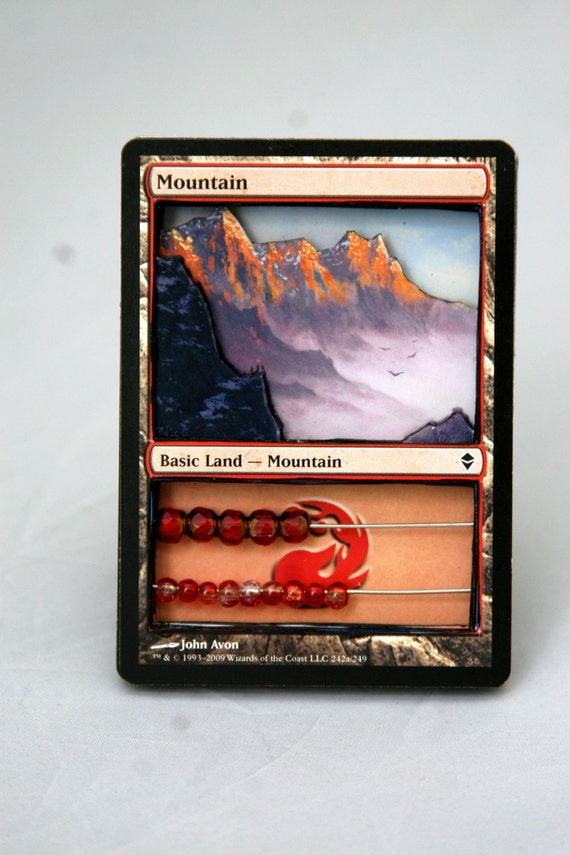 Magic the Gathering 3D Stacked Life Counter - Basic Land: Mountain