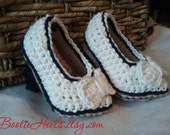 "Crochet Pattern for Bootie Heels stiletto baby bootie ""Avery"""