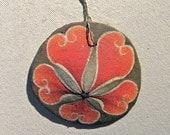 POMEGRANATE Painted California Sand Dollar Ornament