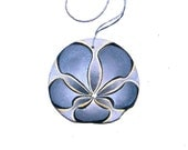 EARL GREY Painted California Sand Dollar Ornament