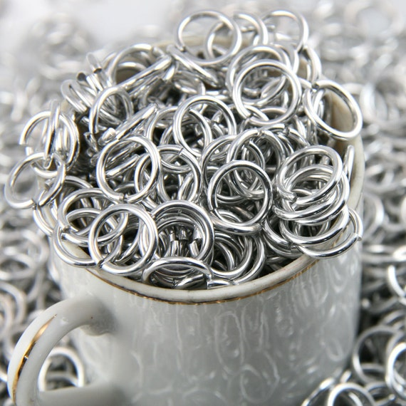 16g 5/16, 1oz Saw Cut Bright Aluminum Chainmail Jump Rings
