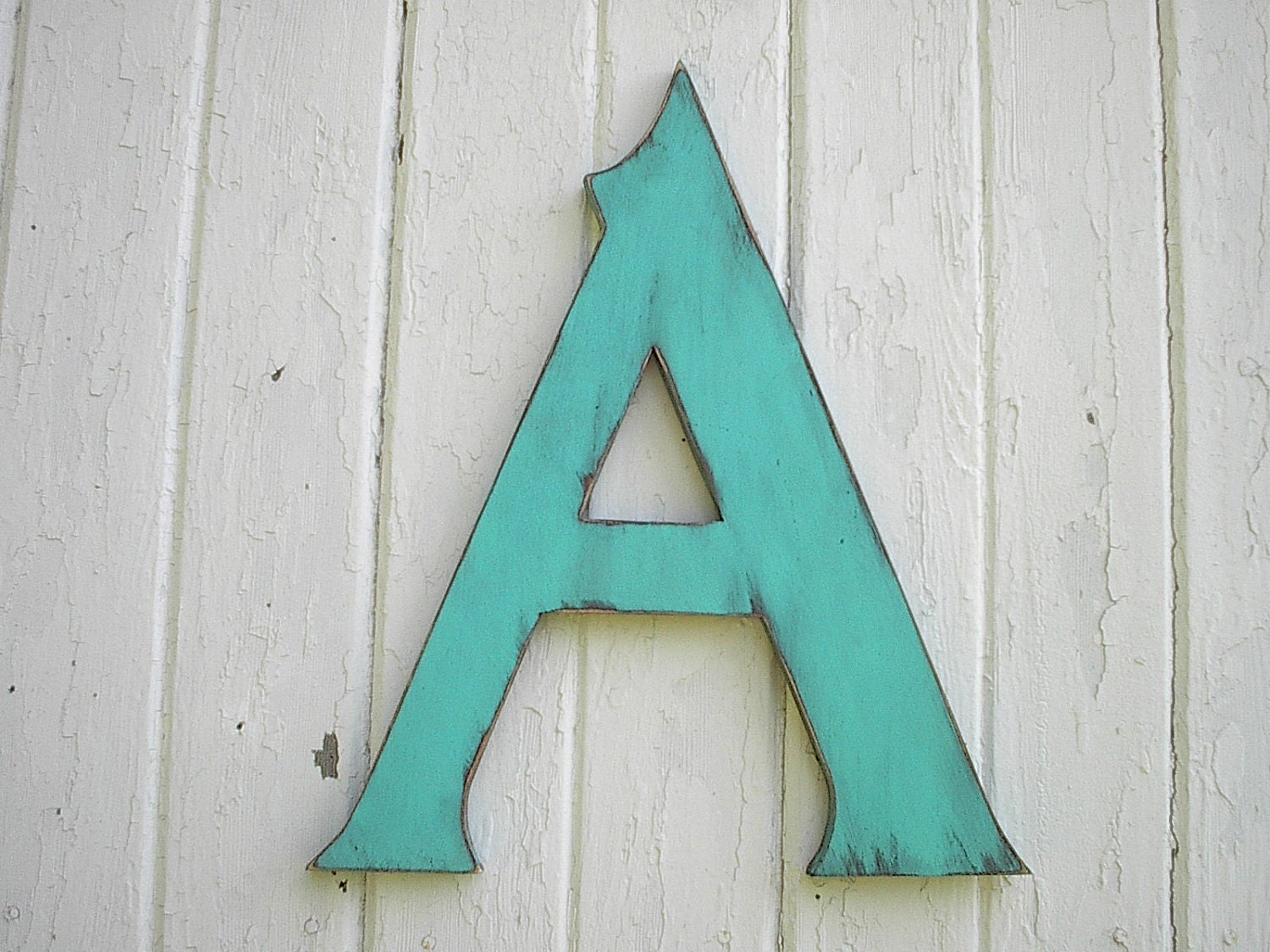 Wooden letters a 18 serif wedding decor kids art - Wood letter wall decor ...