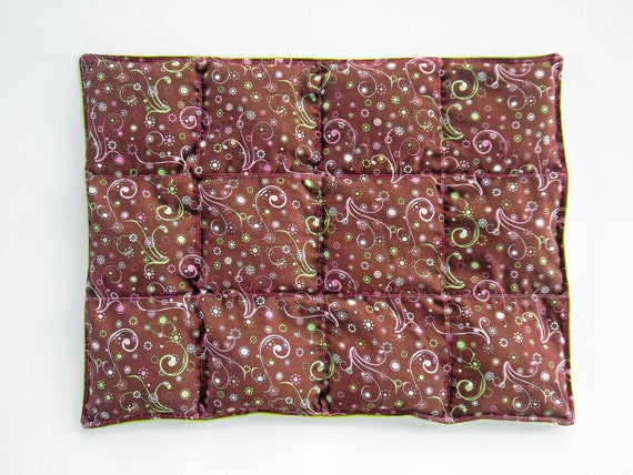 Weighted Lap Pad - 2lb - Whimsical Pink-Brown-Lime