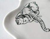 Elephant Plate - Scalloped