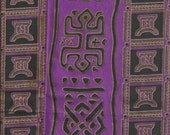 Imported African Fabric Purple 1 yard Cotton Fabric