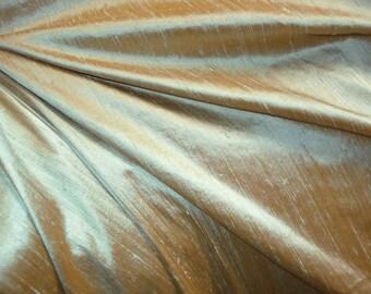 "Coppery Sage dupioni silk - 54"" wide"