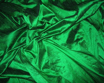 "Emerald dupioni silk - 54"" wide"
