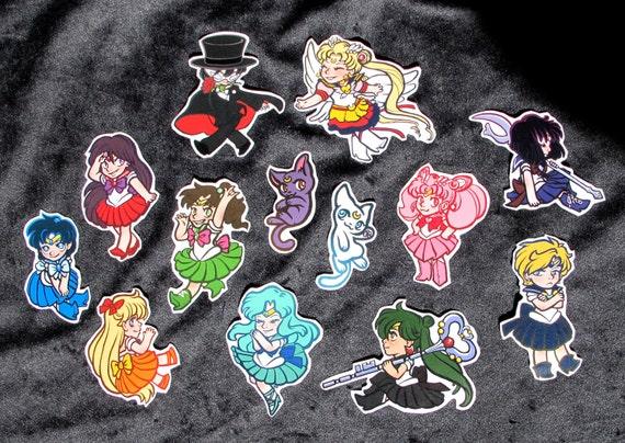 Sailor Moon fan art stickers (set of 13 stickers)