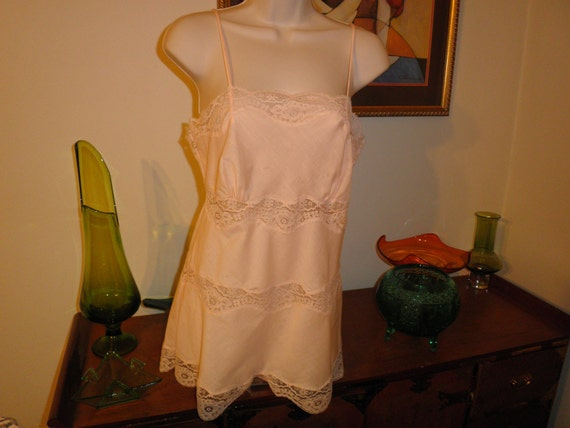 Vintage Lilly of France Soft Pink Sleepwear with Snap Croutch