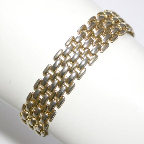 SALE Vintage silver and gold gate bracelet