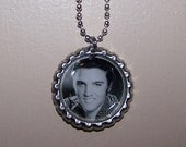 Elvis bottle cap necklace