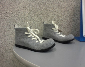 Felted boots ASH GRAY